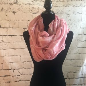 Anchor pink and white infinity Scarf